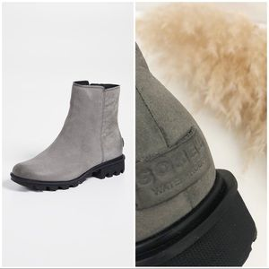 NWOT - Sorel Phoenix Zip Nubuck Quarry Gray Boot